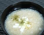 かすみくろ酢で長芋とろとろスープ