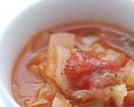 かすみくろ酢で具だくさん野菜スープ