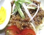 美味酢でジャージャー麺