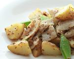 豚肉とじゃが芋のマスタード炒め