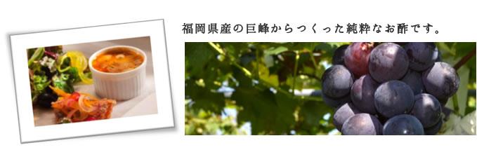 福岡県産の巨峰のワインビネガー